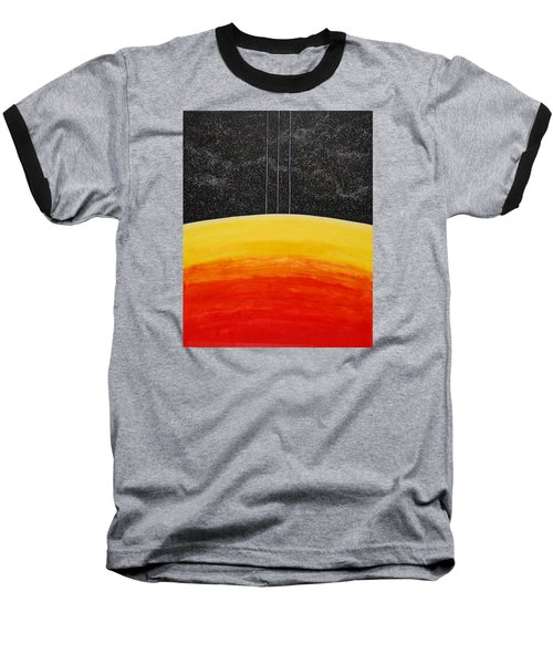 Red To Yellow Spacescape Baseball T-Shirt