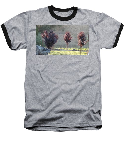 Baseball T-Shirt featuring the photograph Red Tree's by Shawn Marlow