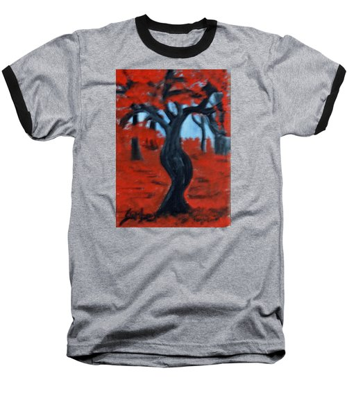 Red Trees Baseball T-Shirt