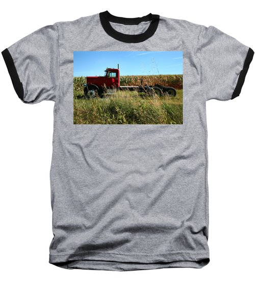 Red Truck In A Corn Field Baseball T-Shirt