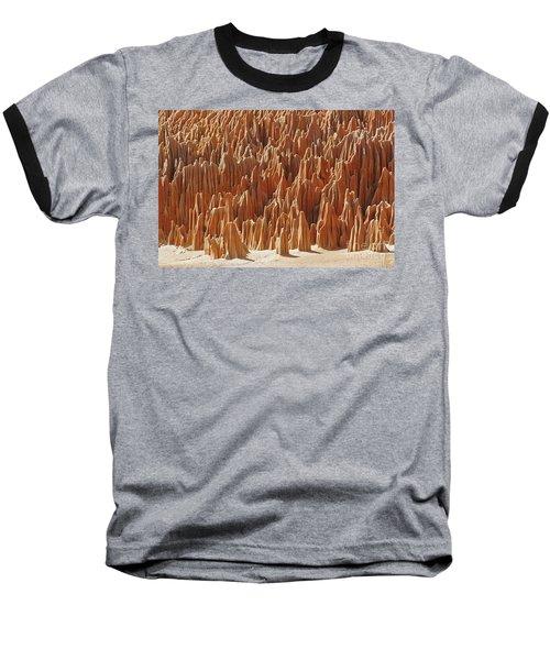red Tsingy Madagascar 1 Baseball T-Shirt by Rudi Prott