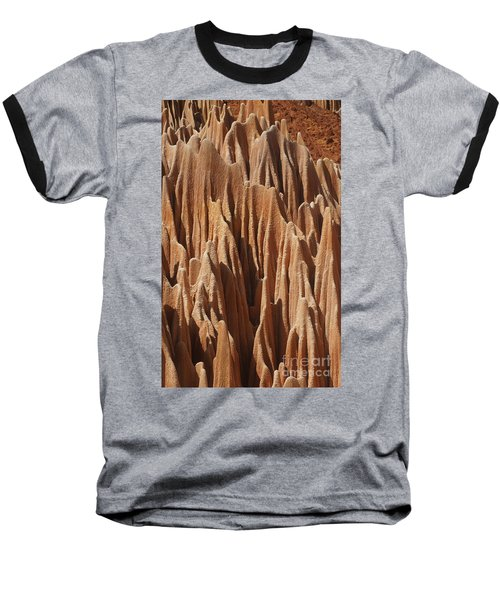 Baseball T-Shirt featuring the photograph red Tsingy Madagascar 5 by Rudi Prott