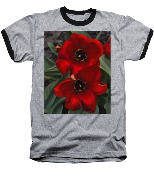 Red Tulip Pair Baseball T-Shirt