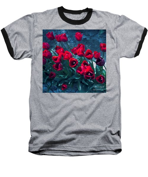 Red Tulips Baseball T-Shirt