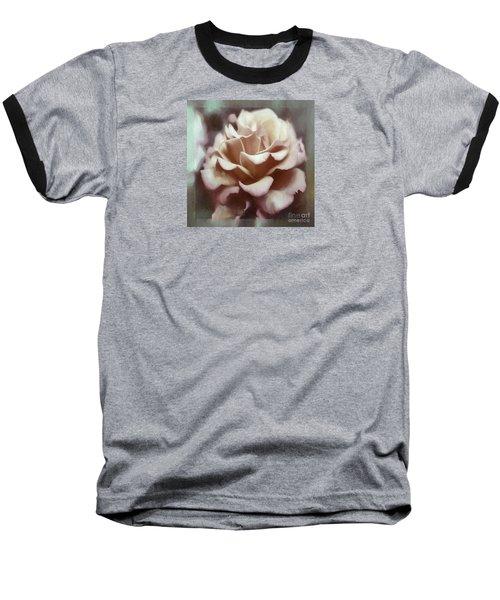 Baseball T-Shirt featuring the photograph Red White Rose by Jean OKeeffe Macro Abundance Art