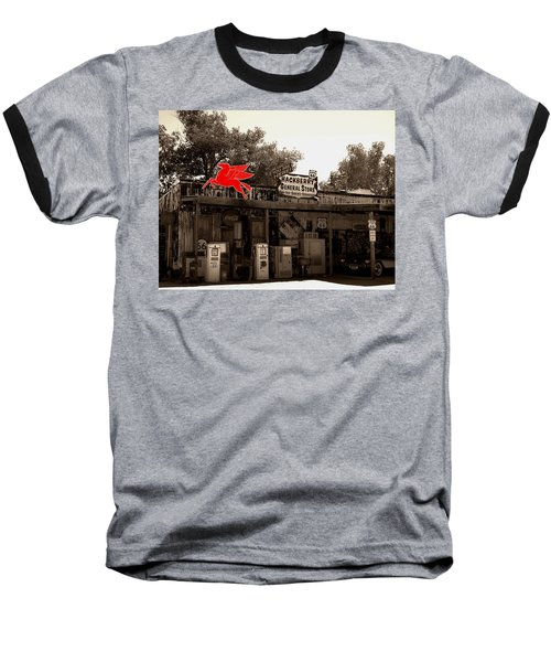 Red Winged Horse Baseball T-Shirt