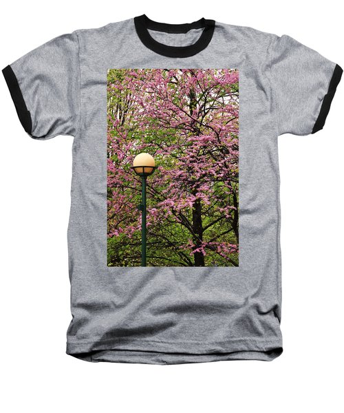 Redbud And Lamp Baseball T-Shirt