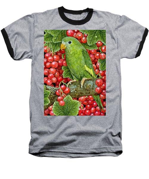 Redcurrant Parakeet Baseball T-Shirt by Ditz
