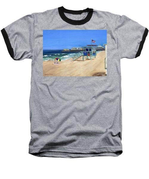 Redondo Beach Lifeguard  Baseball T-Shirt by Jamie Frier