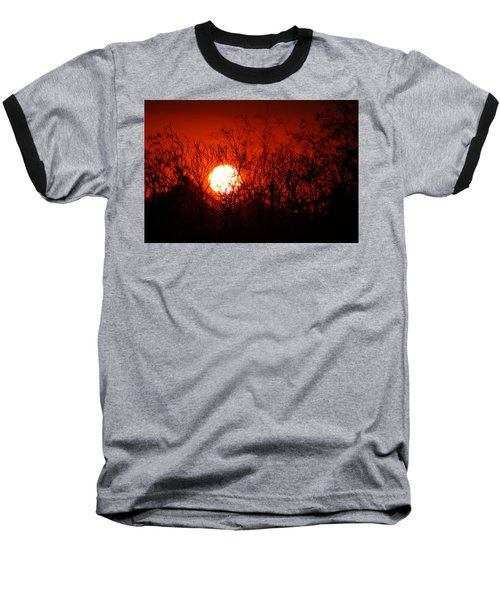 Baseball T-Shirt featuring the photograph Redorange Sunset by Matt Harang