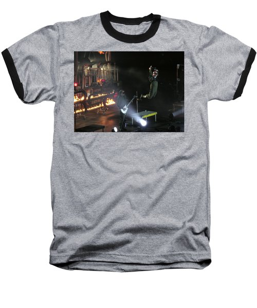 Red's Lead Singer Can Fly Baseball T-Shirt by Aaron Martens