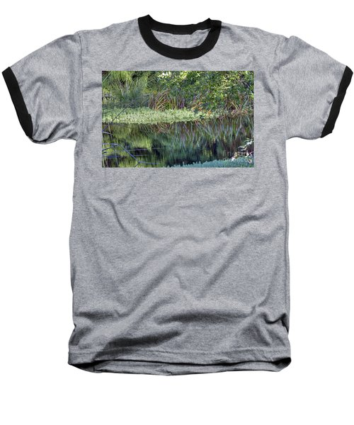 Baseball T-Shirt featuring the photograph Reed Reflections by Kate Brown