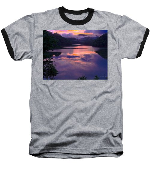 Reflected Sunset Baseball T-Shirt by Tom Culver