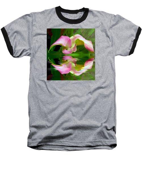 Reflecting Lily Baseball T-Shirt by Michele Avanti