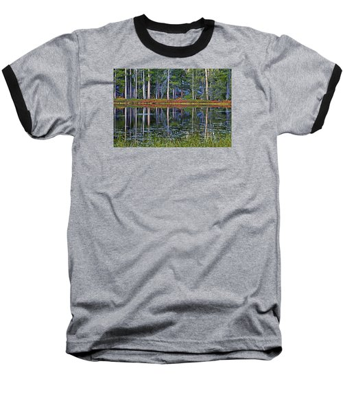 Reflecting Nature Baseball T-Shirt by Duncan Selby