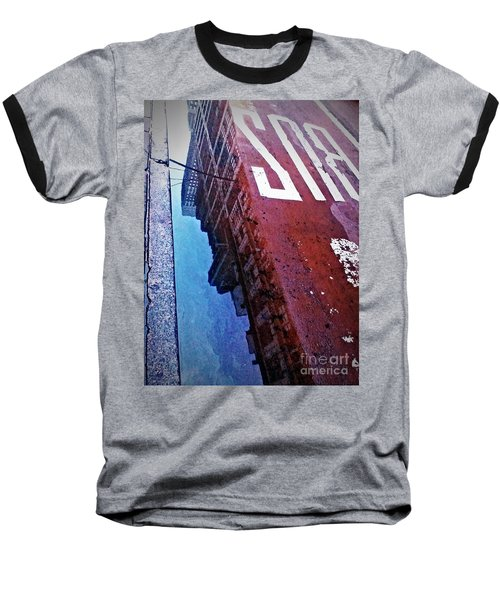 Baseball T-Shirt featuring the photograph Reflecting On City Life by James Aiken