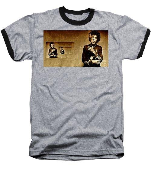 Reflecting On Jimi Hendrix  Baseball T-Shirt