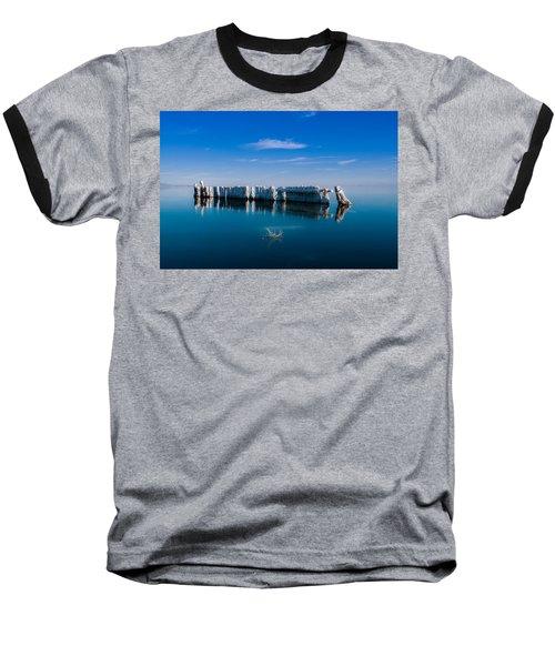 Reflection At Salton Sea Baseball T-Shirt by Ralph Vazquez