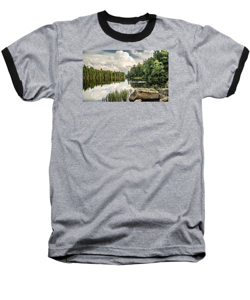 Baseball T-Shirt featuring the photograph Reflection Lake In New York by Debbie Green