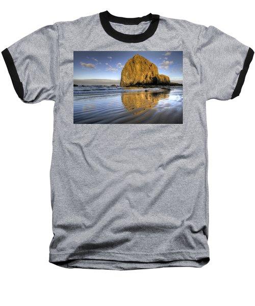 Reflection Of Haystack Rock At Cannon Beach 2 Baseball T-Shirt