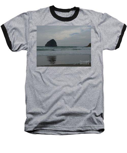 Reflection Of Haystock Rock  Baseball T-Shirt by Susan Garren