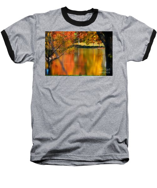 Reflection  Of My Thoughts  Autumn  Reflections Baseball T-Shirt