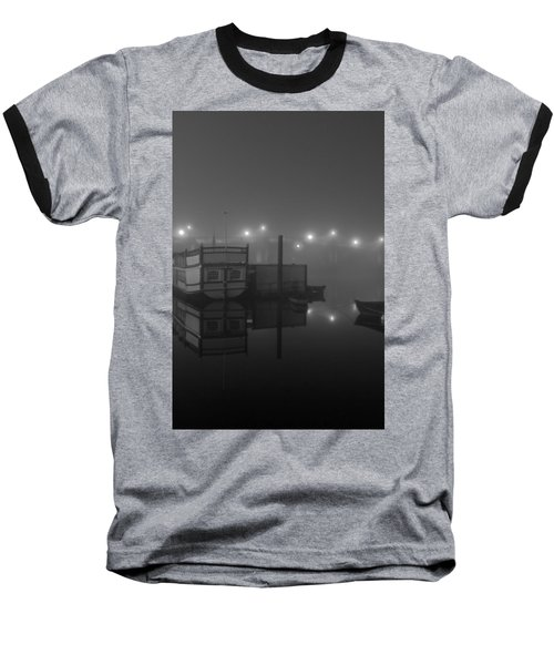 Reflection On Misty Thames  Baseball T-Shirt by Maj Seda