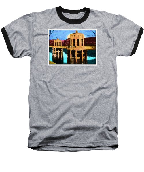 Baseball T-Shirt featuring the photograph Reflections At Hoover Dam by Glenn McCarthy Art and Photography
