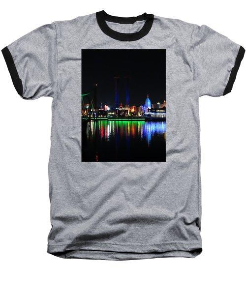 Reflections At Night Baseball T-Shirt