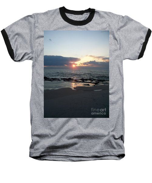 Reflections Cape May Point Baseball T-Shirt by Eric  Schiabor