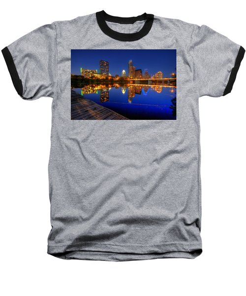 Reflections Baseball T-Shirt by Dave Files