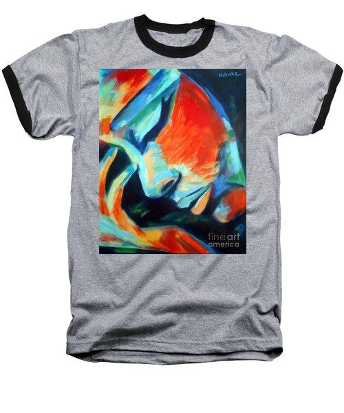 Reflections Baseball T-Shirt by Helena Wierzbicki