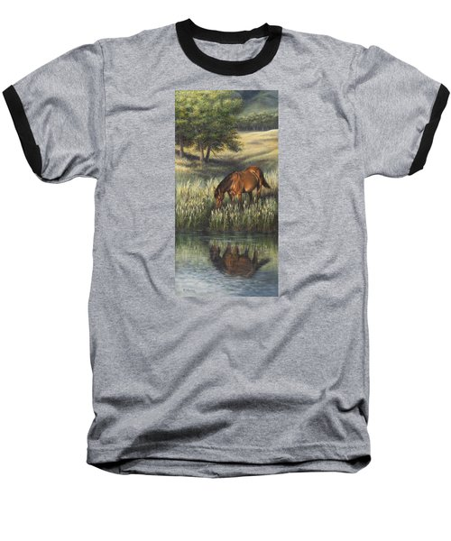 Baseball T-Shirt featuring the painting Reflections by Kim Lockman