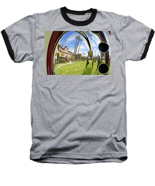 Baseball T-Shirt featuring the pyrography Reflections Of A 1937 Cord by Shoal Hollingsworth