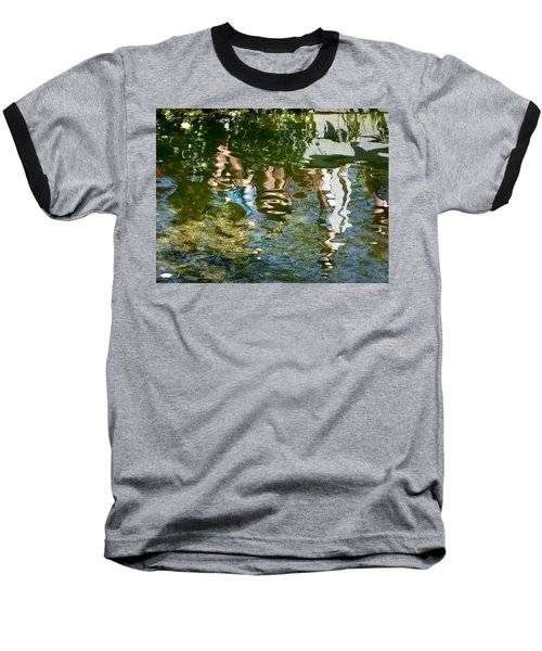 Reflections Of A Parade Baseball T-Shirt by Amelia Racca