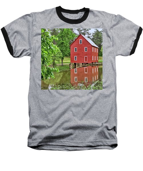 Reflections Of A Retired Grist Mill - Square Baseball T-Shirt