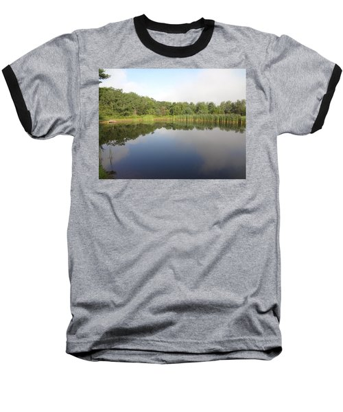 Reflections Of A Still Pond Baseball T-Shirt by Michael Porchik