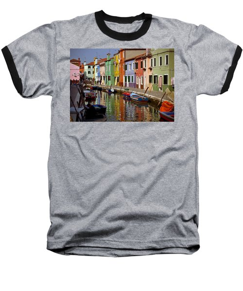 Reflections Of Burano Baseball T-Shirt