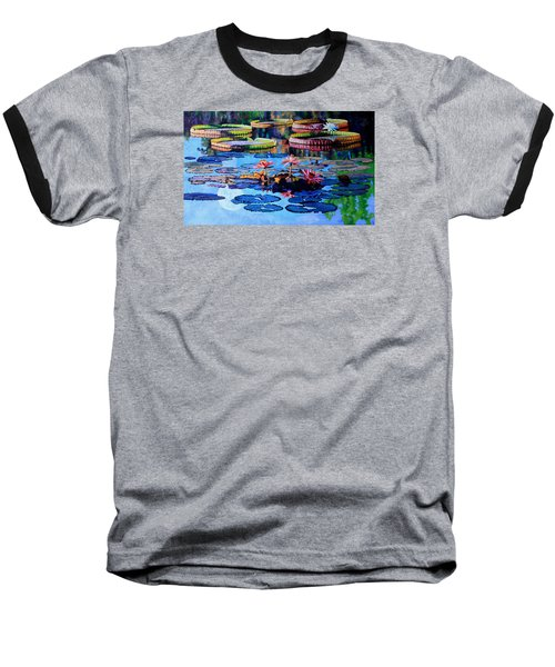 Reflections Of Nature's Beauty Baseball T-Shirt by John Lautermilch