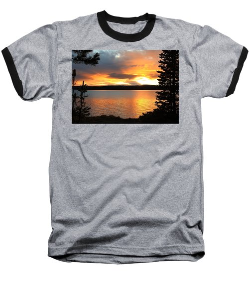 Baseball T-Shirt featuring the photograph Reflections Of Sunset by Athena Mckinzie