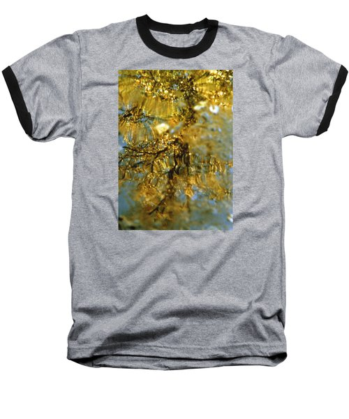 Reflections Of Trees In Gold Baseball T-Shirt