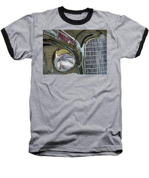 Baseball T-Shirt featuring the painting Reflections On 1931 Alfa Romeo Milano by Anna Ruzsan