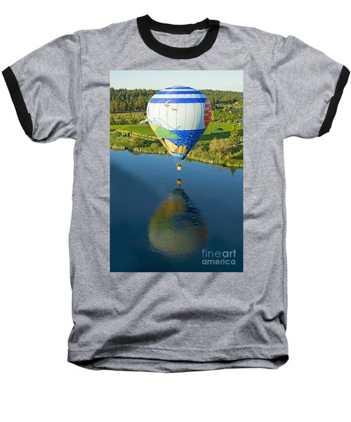 Baseball T-Shirt featuring the photograph Reflections Over The Dechutes by Nick  Boren