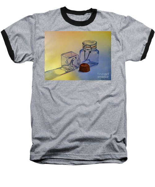 Reflective Still Life Jars Baseball T-Shirt by Brenda Brown