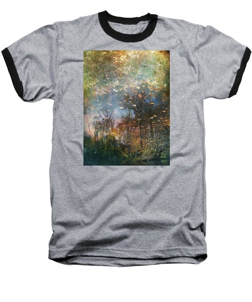Reflective Waters Baseball T-Shirt by John Rivera
