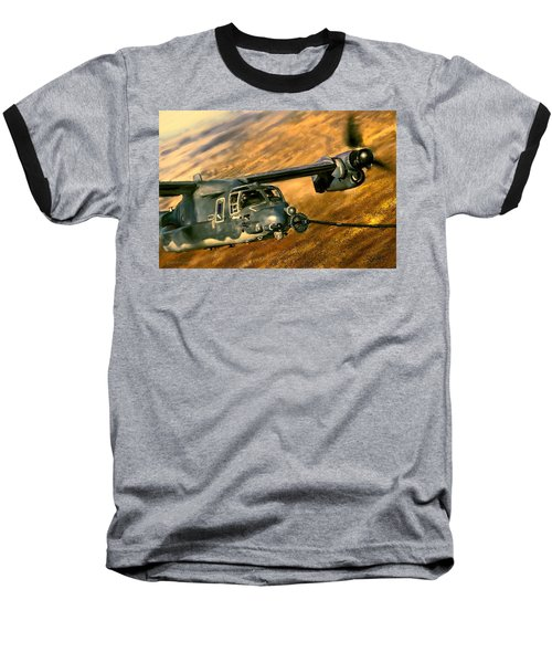 Baseball T-Shirt featuring the painting Refueling by Dave Luebbert