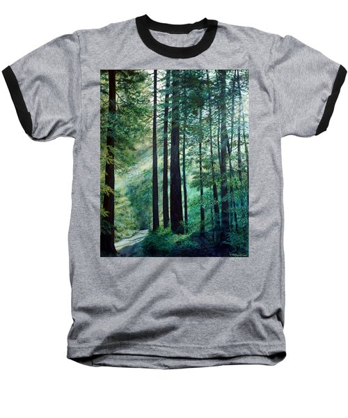 Baseball T-Shirt featuring the painting Refuge by Kathleen McDermott