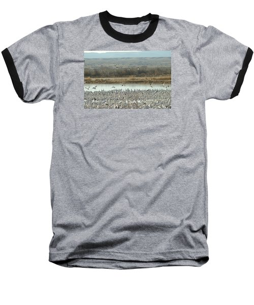 Refuge View  Baseball T-Shirt by James Gay