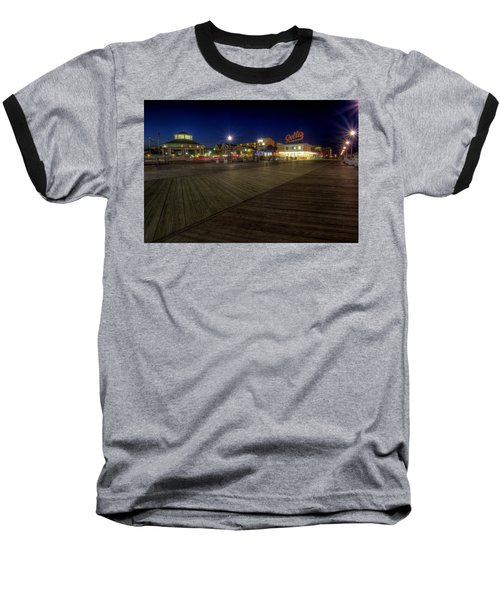 Rehoboth Beach Boardwalk At Night Baseball T-Shirt