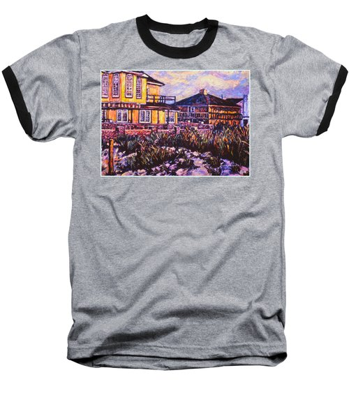 Rehoboth Beach Houses Baseball T-Shirt by Kendall Kessler
